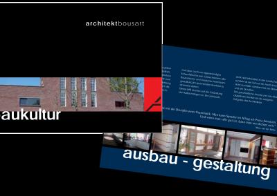 06/10 Neue Imagebroschüre für den Architekten Bousart