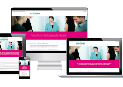 09/15: Neuer Responsive Webauftritt der Firma Allround Werbeservice