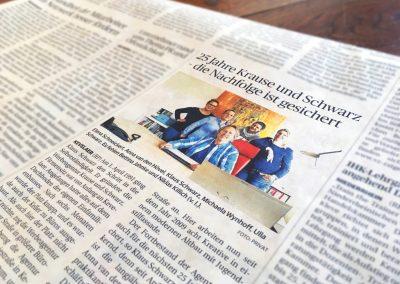 04/16: Rheinische Post bringt Artikel über Krause & Schwarz raus