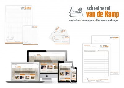 02/17: Neues Corporate Design unseres Kunden der Schreinerei van de Kamp