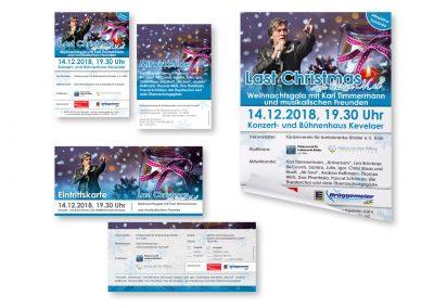 10/18 Werbung für Weihnachtsgala mit Karl Timmermann und musikalischen Freunden