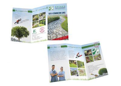 03/19 Flyer für Heckes Garten- und Landschaftsbau