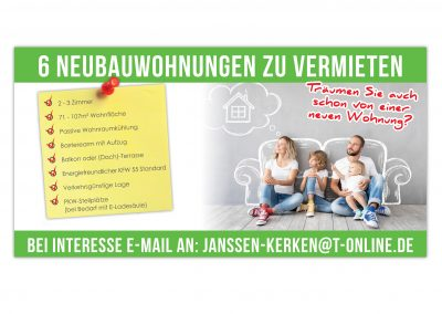 12/20 Banner für neue Wohnungen