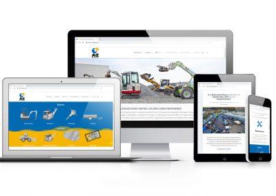 07/18 Neue Website für A-Z Baumaschinen